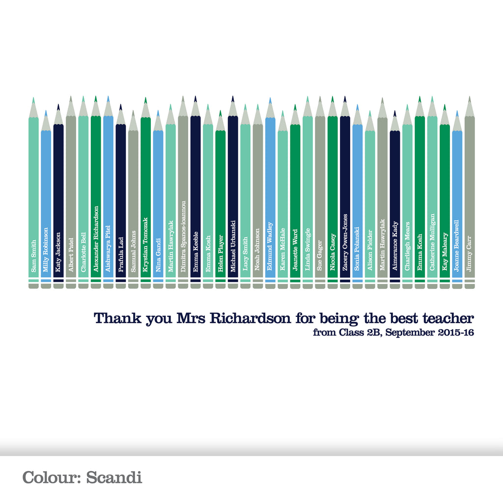 Personalised Class Pencil Print_Scandi