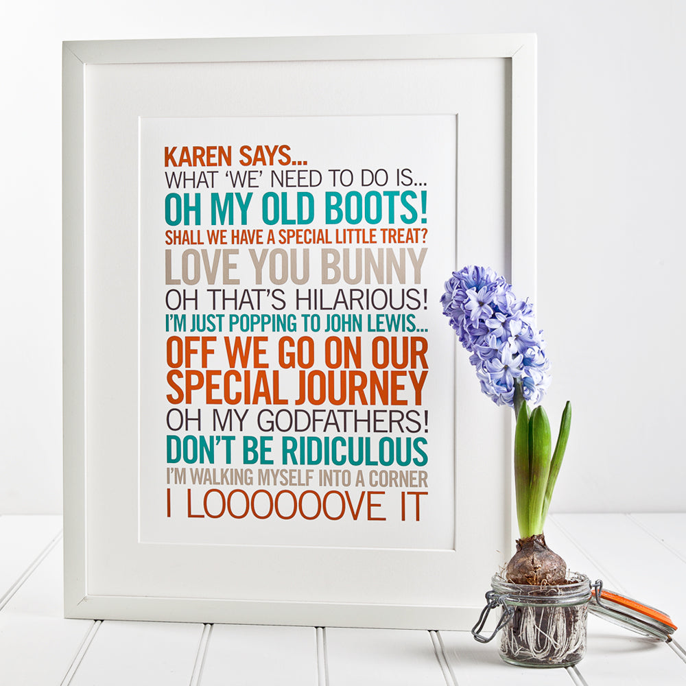 Personalised 'Sayings' Print