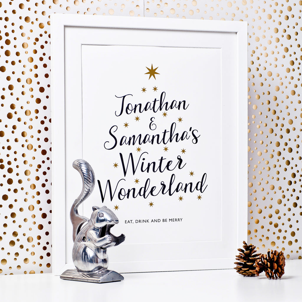 Personalised Winter Wonderland Print _couples name 1