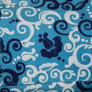 Yoga Mat Bag in Blue Floral Scroll Print - Made for Freedom