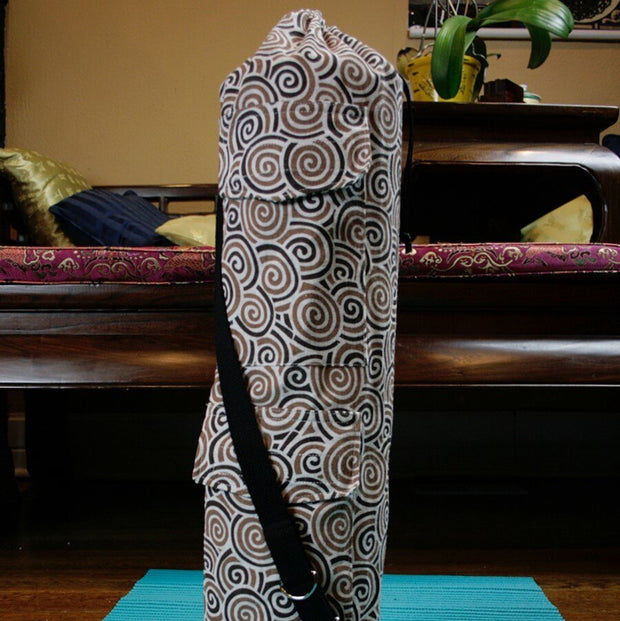 Yoga Mat Bag Chocolate Swirl Print - Made for Freedom