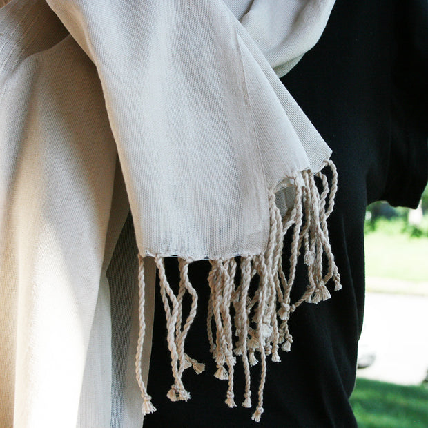 100% cotton Cream Scarf