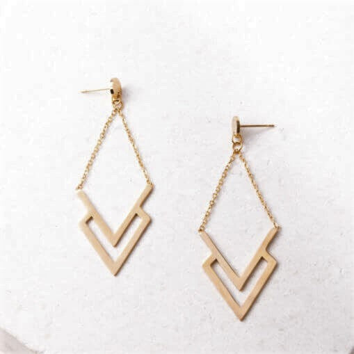 Dominique Chevron Earrings - Made for Freedom