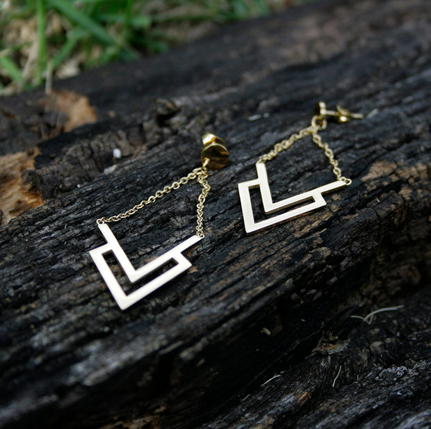 Dominique Chevron Earrings