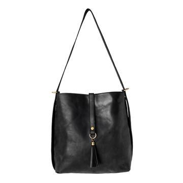black leather slingback bag