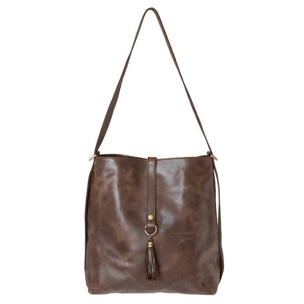 brown leather slingback bag