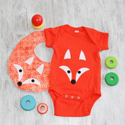 Hand-Appliquéd Fox Onesie