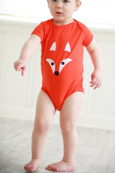 Hand-Appliquéd Fox Onesie - Made for Freedom