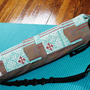 Yoga Mat Bag Teal Goddess Print - Made for Freedom
