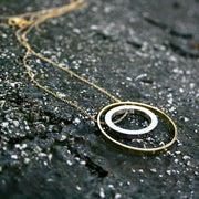 Lisa Two-tone Circle Necklace