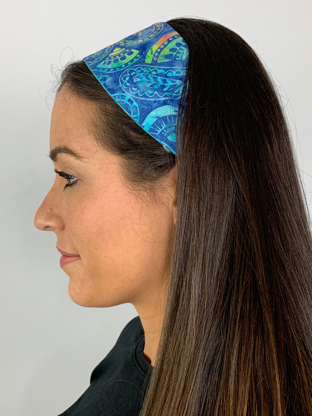 Ocean Paisley & Sea Mist Reversible Headband