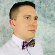Splattered Plum Bow Tie