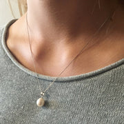 pearl necklace sterling silver chain