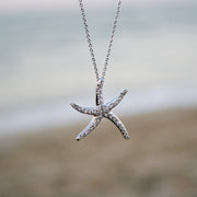Rhinestone Starfish Necklace