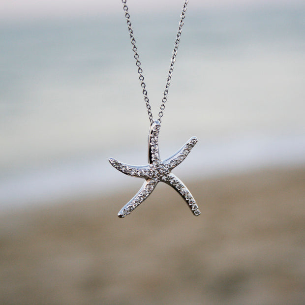 Rhinestone Starfish Necklace - Made for Freedom