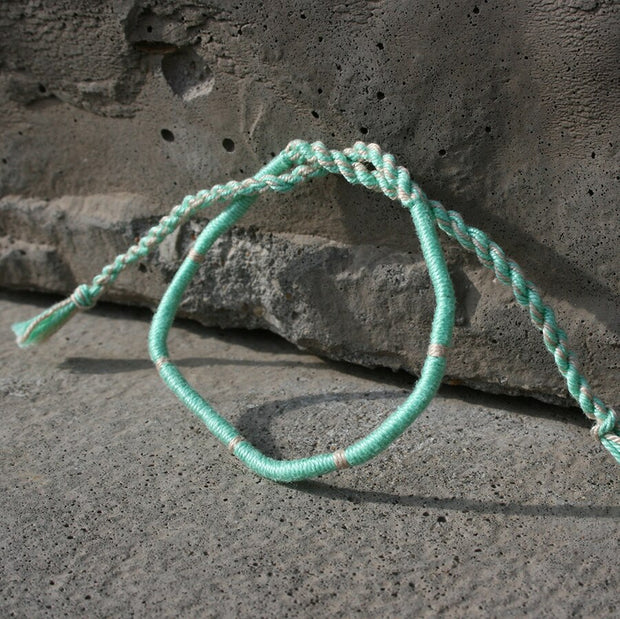 Woven Bracelet - Sea Foam Green - Made for Freedom