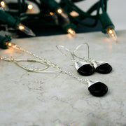 Silver and Black Onyx Lariat Set - Made for Freedom