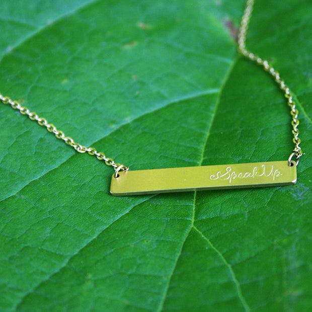 Speak Up Bar Necklace - Made for Freedom