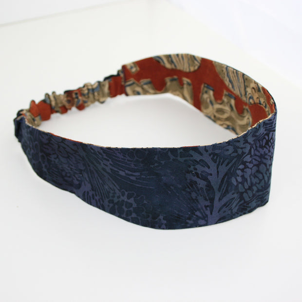 Umber Elephant & Midnight Reversible Headband - Made for Freedom