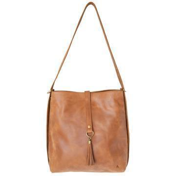 camel leather slingback bag
