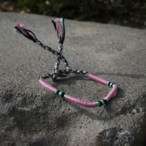 Woven Bracelet - Bubble Gum - Made for Freedom