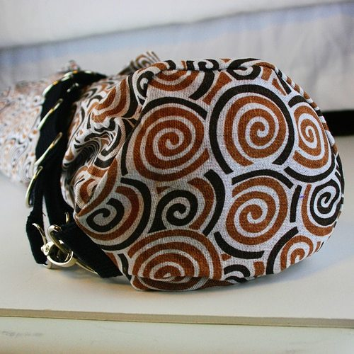 Chocolate Swirl Yoga Mat Bag