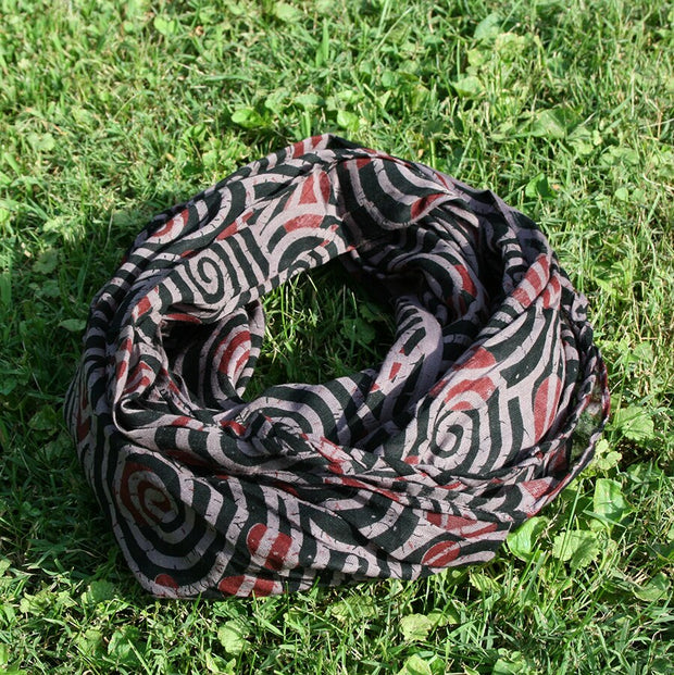 Deep Taupe Swirl Scarf - Made for Freedom