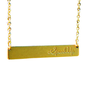 Speak Up Bar Necklace