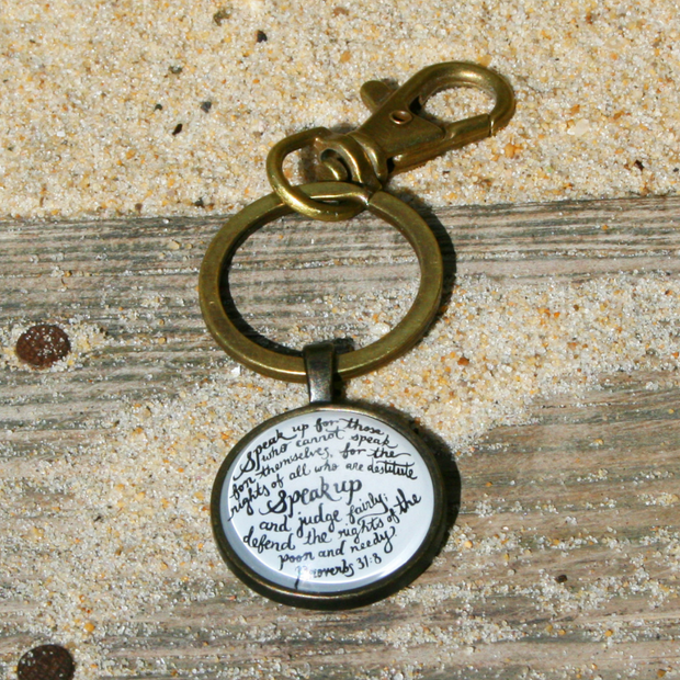 Speak Up Inspirational Key Ring