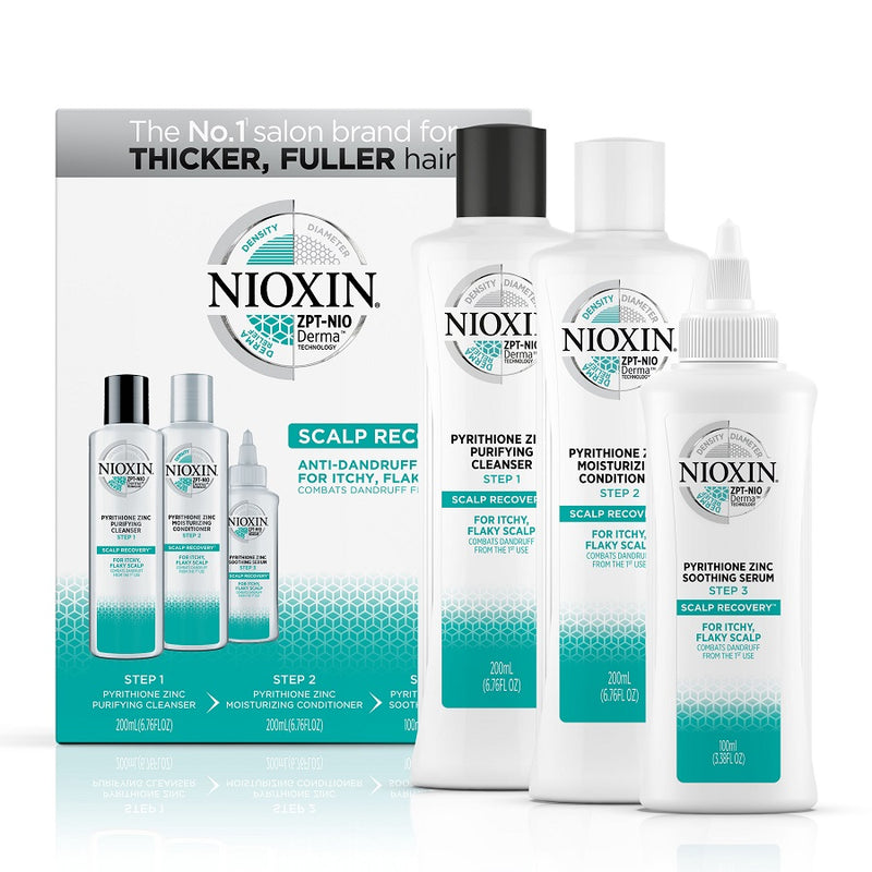 Nioxin Scalp Recovery Kit (Σαμπουάν 200ml, Conditioner 200ml, Θεραπεία 100ml)