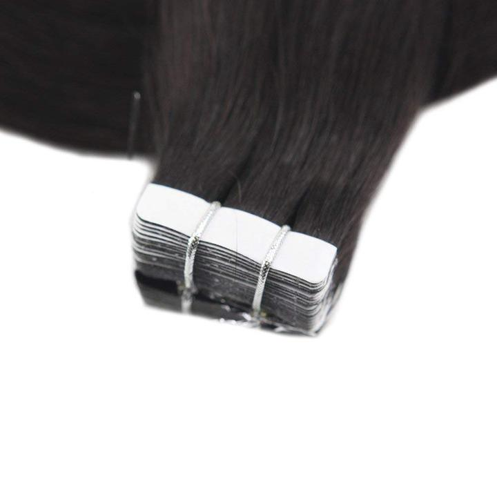 Tape Extensions Φυσική Τρίχα Remy Μαύρα Off Black No 1B