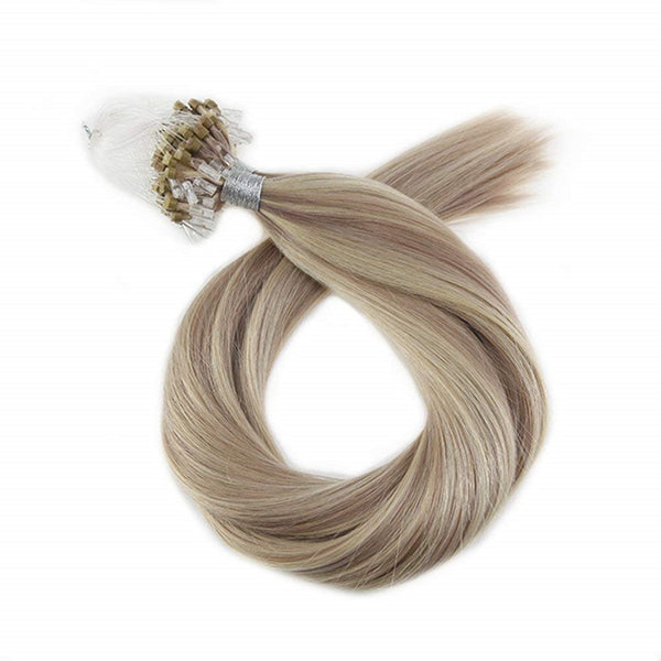 Micro Ring Loop Hair Extensions Φυσική Τρίχα Remy Balayage No P18/613