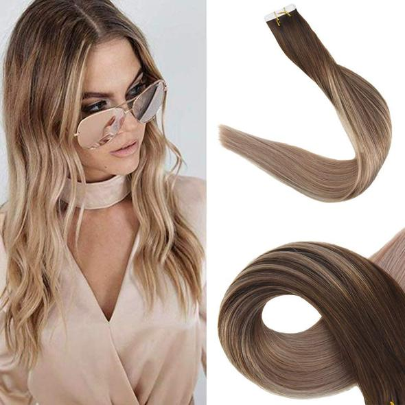 Tape Extensions Φυσική Τρίχα Remy Balayage No 4/16