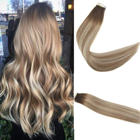 Tape Extensions Φυσική Τρίχα Remy Balayage No 3/8/22