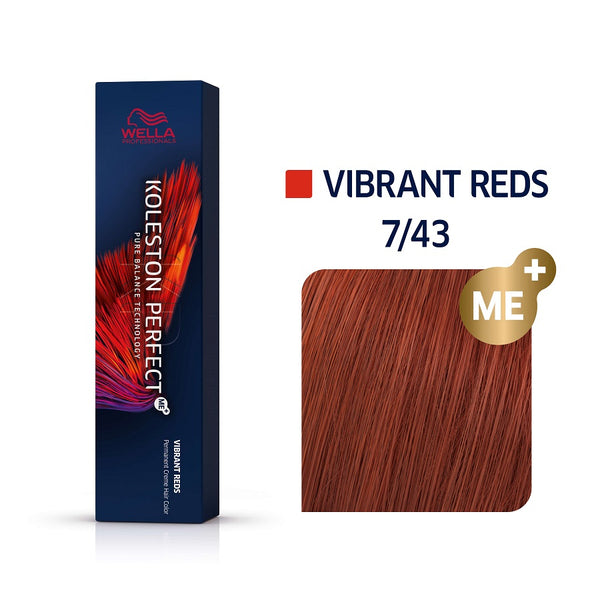 Wella Koleston Perfect ME+ Vibrant Reds 7/43 Ξανθό Κόκκινο Χρυσό 60ml