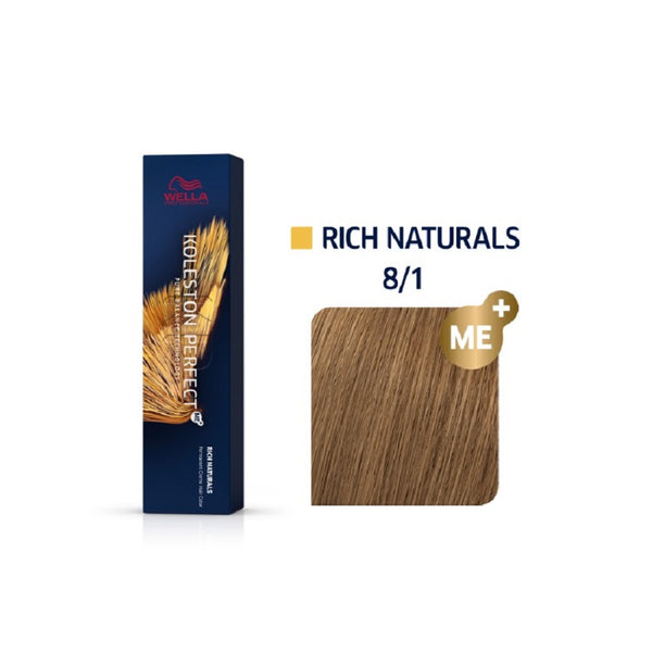 Wella Koleston Perfect ME+ Rich Naturals 8/1 Ξανθό Ανοιχτό Σαντρέ 60ml