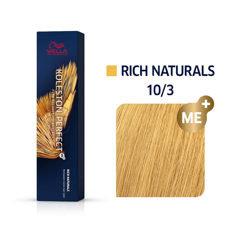 Wella Koleston Perfect ME+ Rich Naturals 10/3 Κατάξανθο Χρυσό 60ml