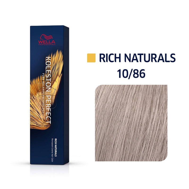 Wella Koleston Perfect ME+ Rich Naturals 10/86 Κατάξανθο Περλέ Βιολέ 60ml