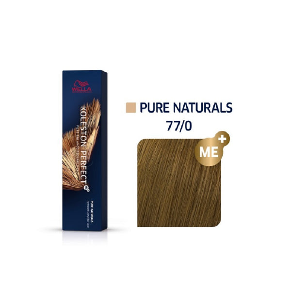 Wella Koleston Perfect ME+ Pure Naturals 77/0 Έντονο Ξανθό 60ml
