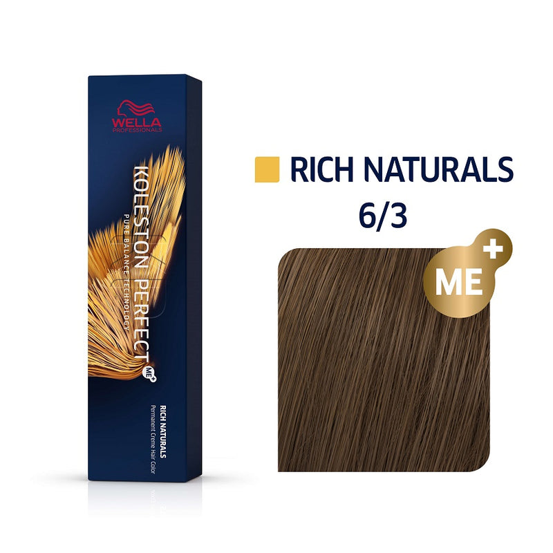 Wella Koleston Perfect ME+ Rich Naturals 6/3 Ξανθό Σκούρο Χρυσό 60ml