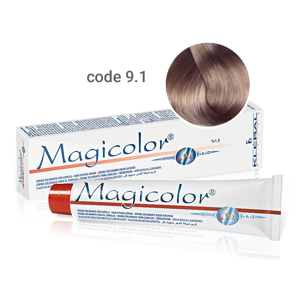 Kleral Magicolor Κρέμα Βαφής Μαλλιών 9.1 Ξανθό Πολύ Ανοικτό Σαντρέ 100ml