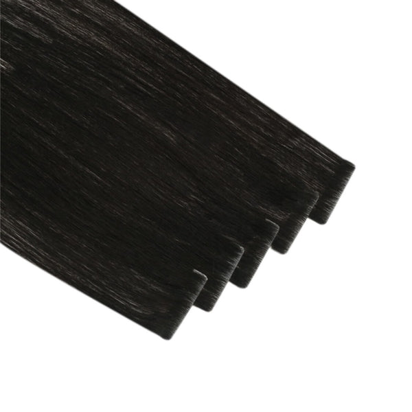 Tape Extension Invisible Φυσική Τρίχα Remy Μαύρα Jet Black No 1
