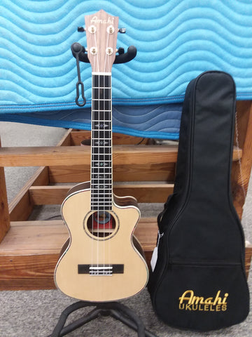 Amahi Tenor Ebony EQ w/Case