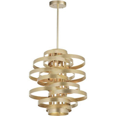 Elizabetta 7 Light Chandelier with Gold Leaf Finish by CWI Lighting 1068P28-7-620
