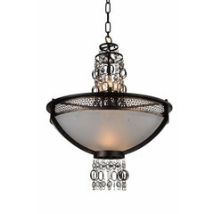 Pollett 6 Light Up Chandelier with Golden Bronze finish by CWI Lighting 9901P26-8-185