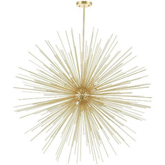 Savannah 14 Light Chandelier with Gold Leaf Finish by CWI Lighting 1034P40-14-620