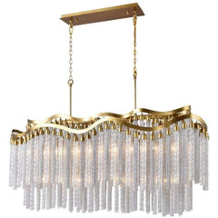Storm 12 Light Down Chandelier with Gold finish by CWI Lighting 5648P47G-RC