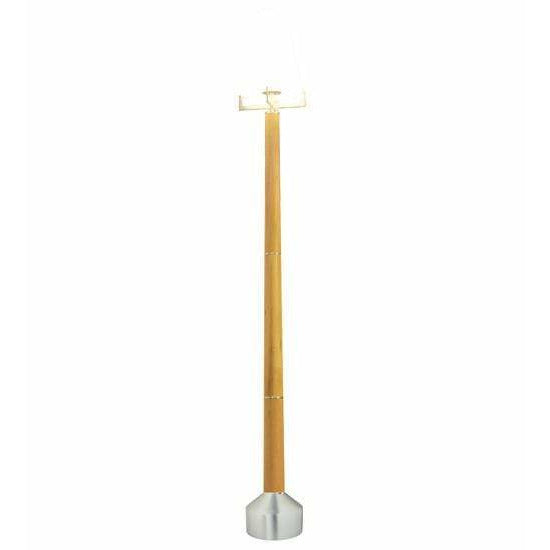 2nd Ave Lighting Post Mount Brushed Steel / Faux Wood / Glass Fabric Idalight Avesta Post Mount By 2nd Ave Lighting 118733