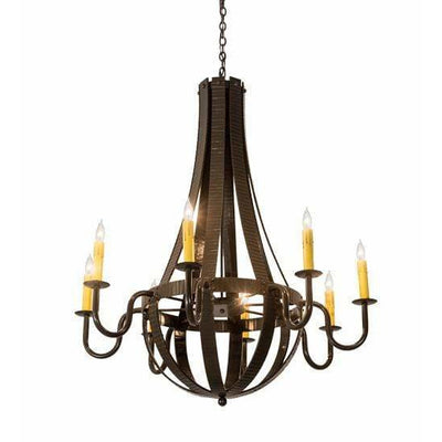 2nd Ave Lighting Chandeliers Timeless Bronze Barrel Stave Chandelier By 2nd Ave Lighting 195170