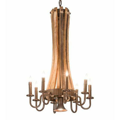 2nd Ave Lighting Chandeliers Mahogany Bronze Barrel Stave Chandelier By 2nd Ave Lighting 197593